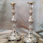 i Pair of Russian Shabbat Candlesticks