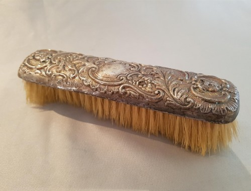 Antique silver Victorian Hairbrush