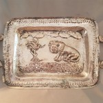 Ethnic embossed tray